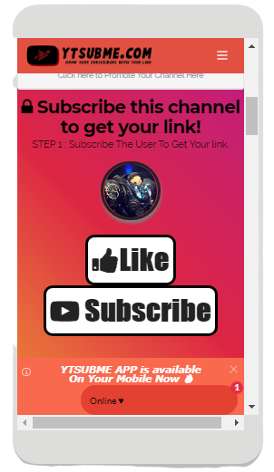 YTSUBME - Subscribe To Unlock Link- BOOST Youtube Subscribers FREE